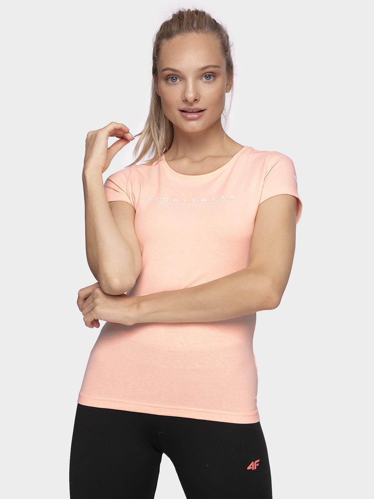 T-shirt damski TSD210 - łososiowy