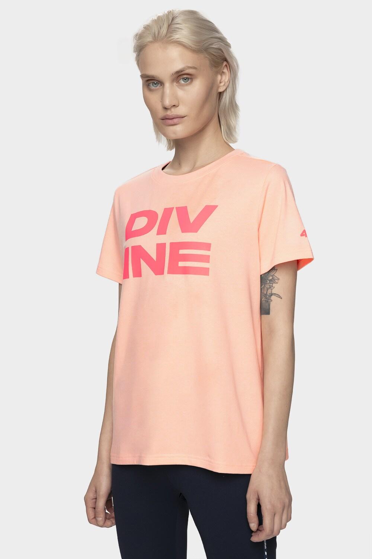 T-shirt damski TSD211 - łososiowy