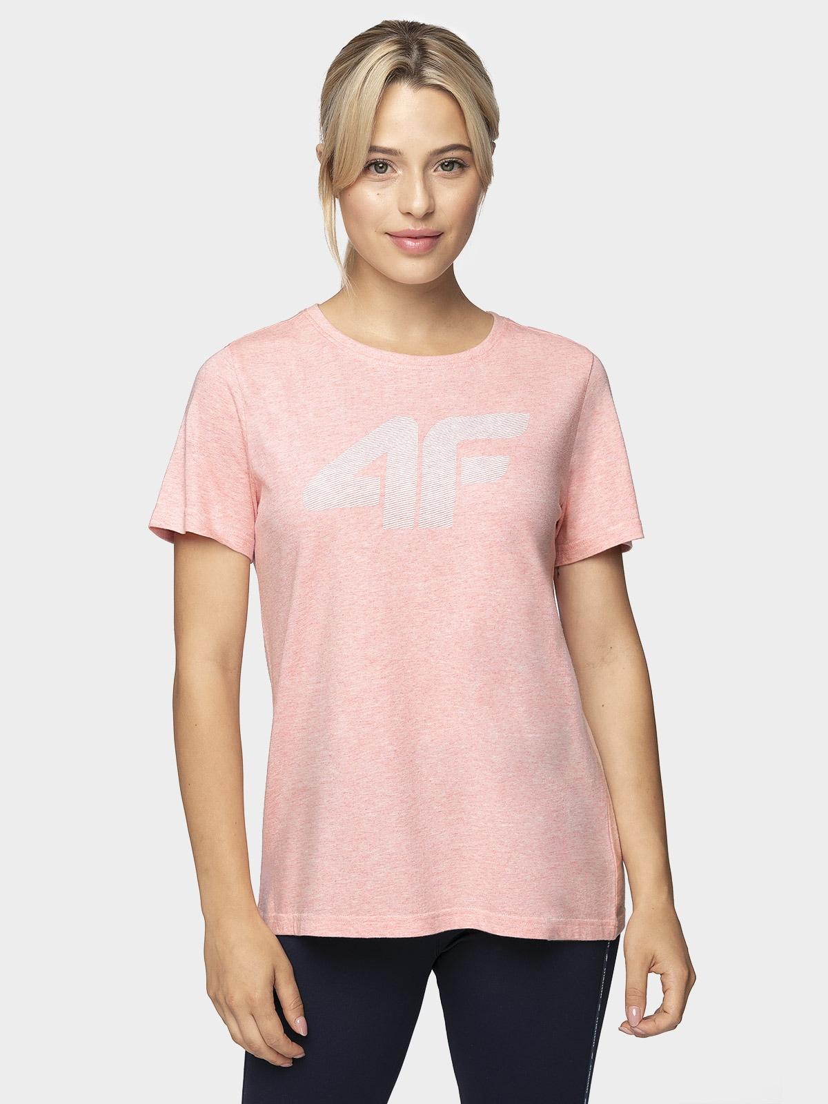 T-shirt damski TSD304 - jasny róż melanż