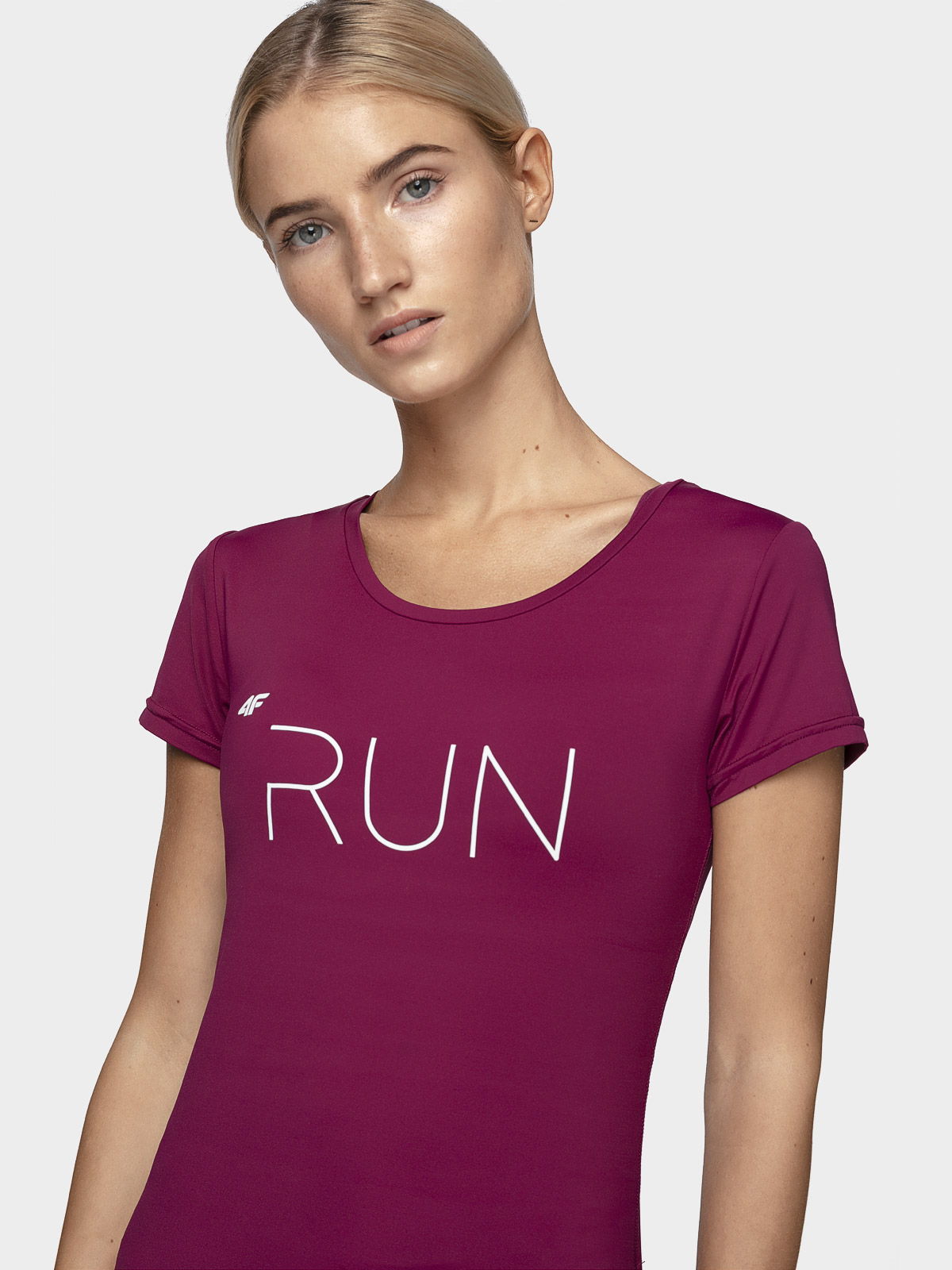 Koszulka do biegania damska TSDF165 - burgund