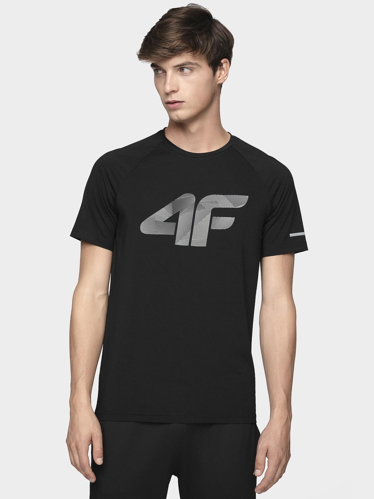 Koszulka do biegania męska TSMF273 - głęboka czerń