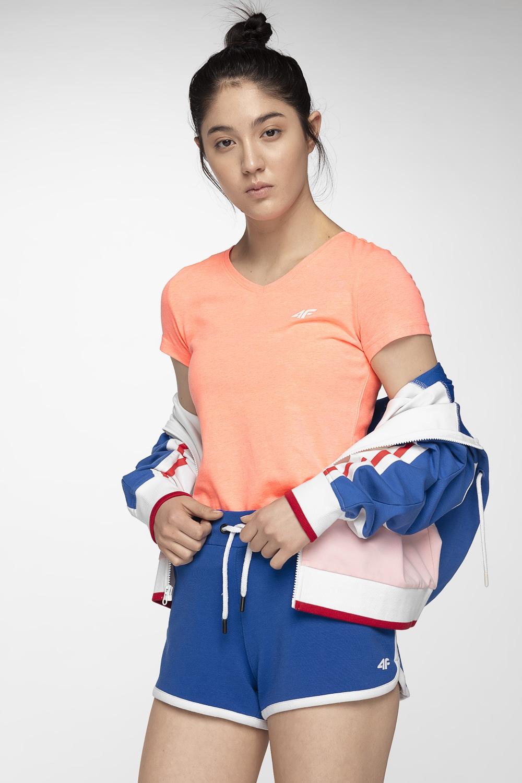 T-shirt damski TSD002A - koral melanż