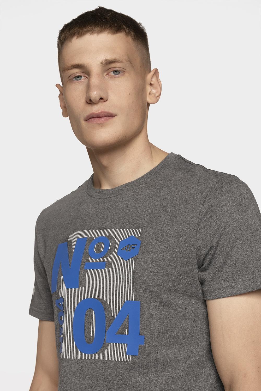 Tricou pentru bărbați TSM011 - gri mediu melanj