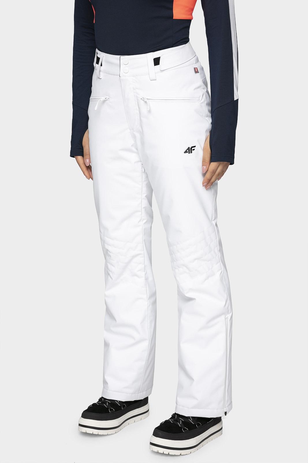 Spodnie narciarskie damskie SPDN004 - biały
