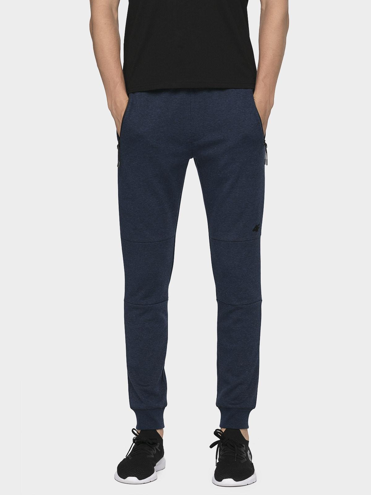 Pantaloni de molton pentru bărbați SPMD003 - bleumarin închis melanj