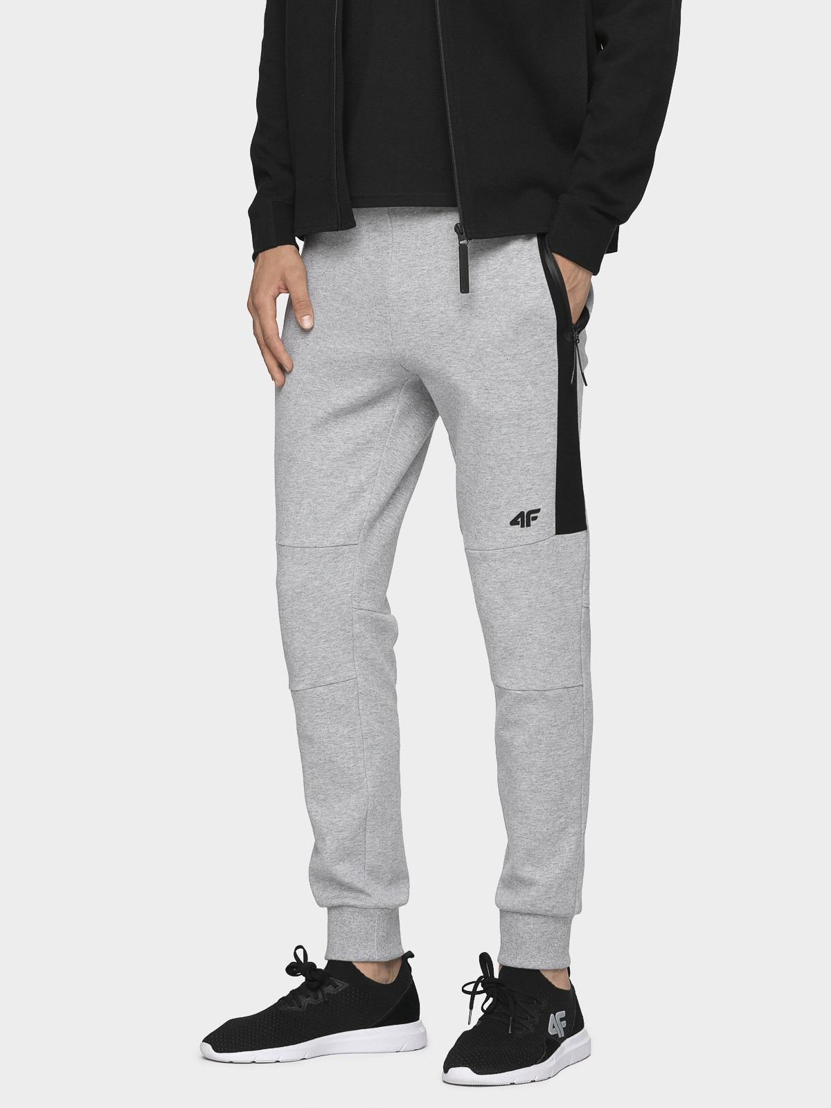 Pantaloni de molton pentru bărbați SPMD070 - gri rece deschis melanj