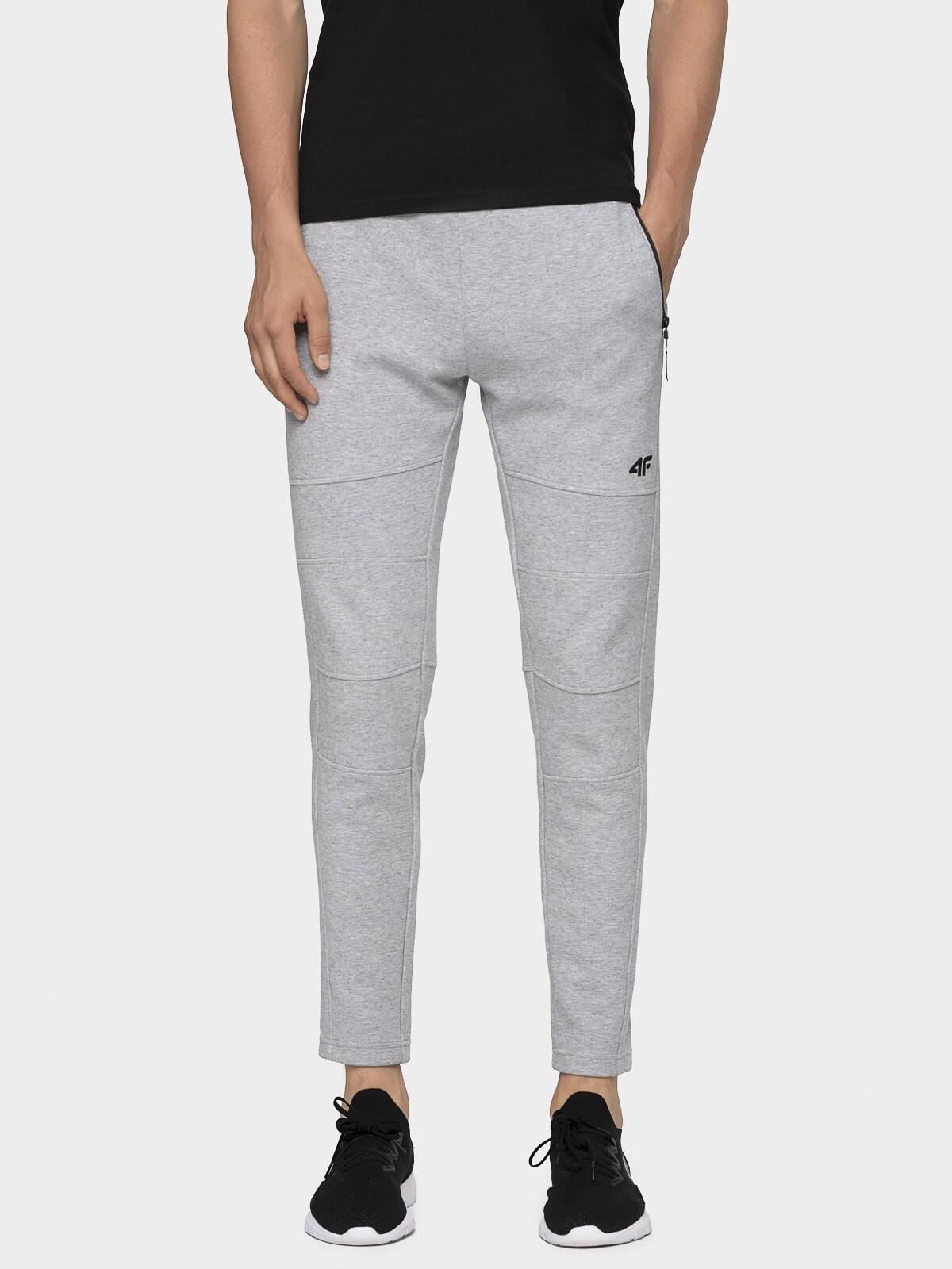Pantaloni pentru bărbați SPMD072 - gri rece deschis melanj