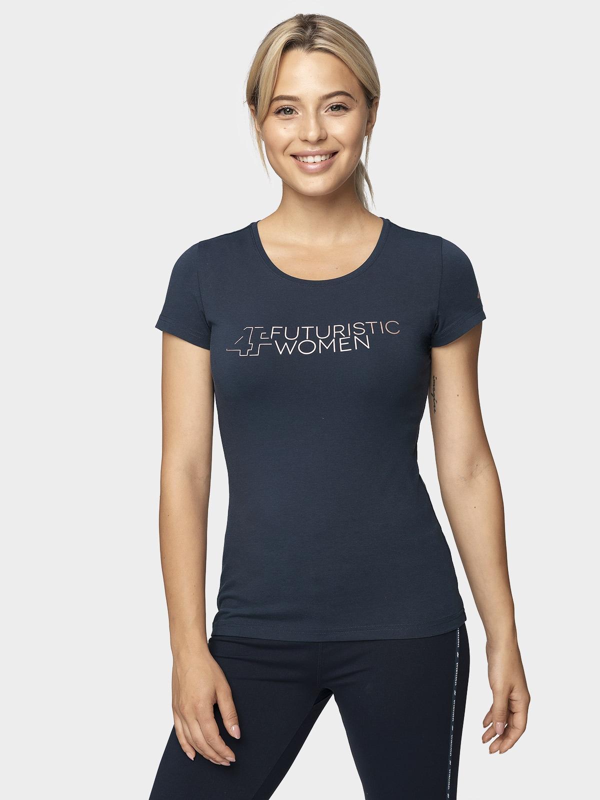T-shirt damski TSD011 - ciemny granat
