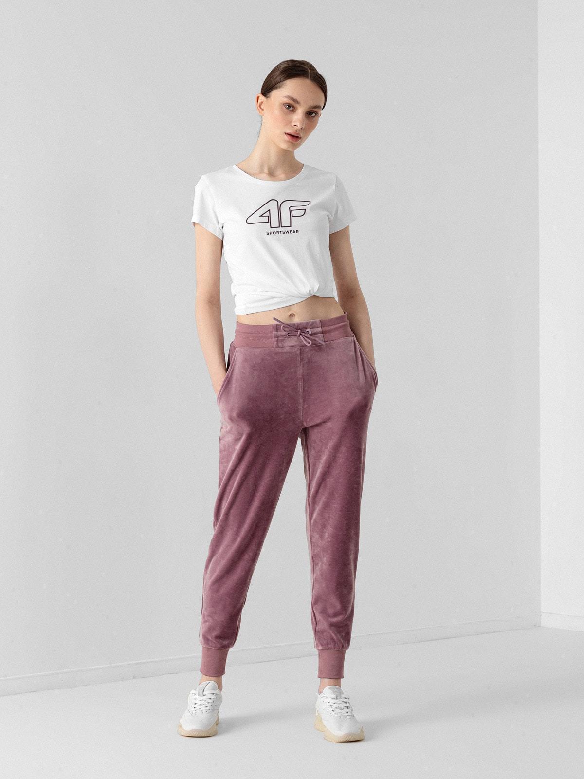 Spodnie dresowe welurowe damskie
