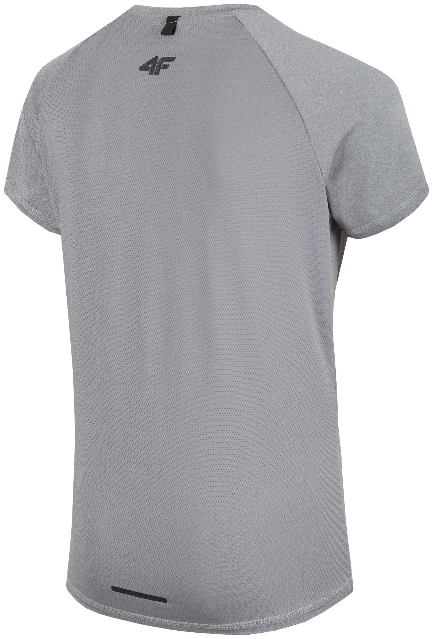 674b9fe7a Koszulka sportowa chłopięca (122-164) JTSM404 - chłodny jasny szary melanż