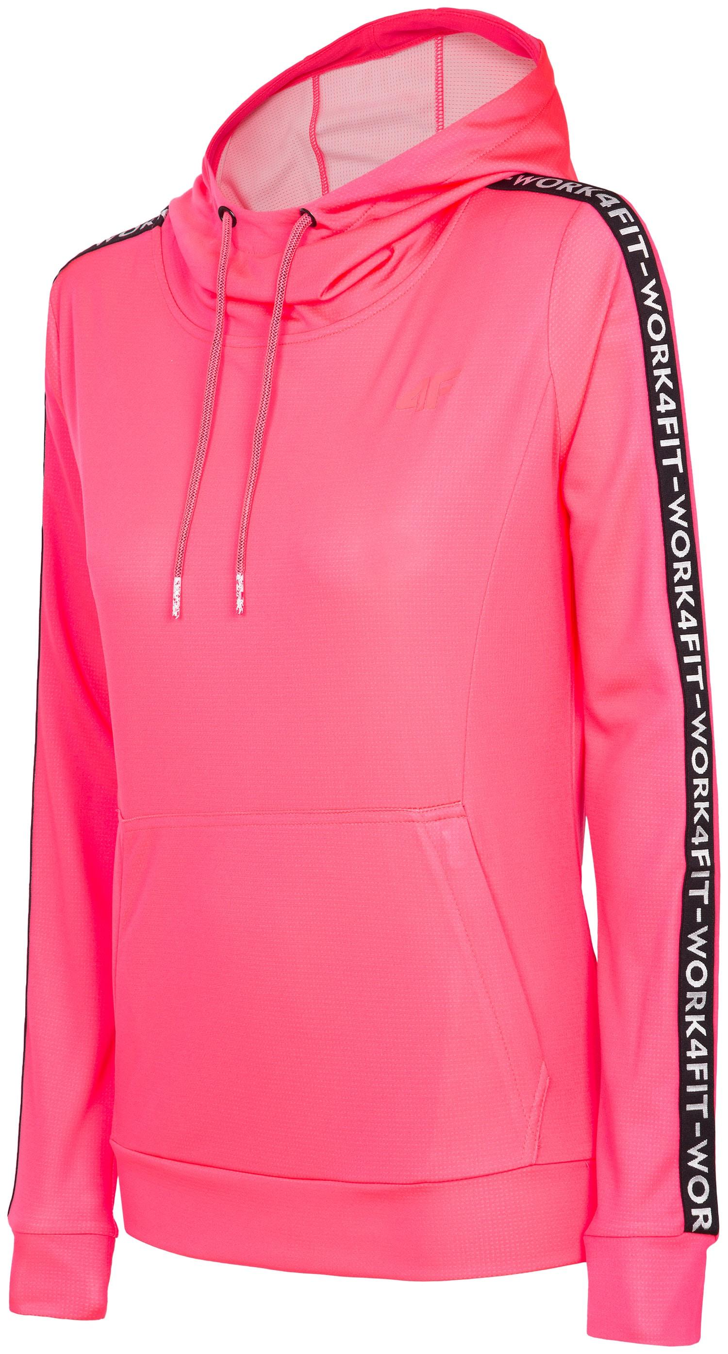 Bluza treningowa damska BLDF201 - koral neon
