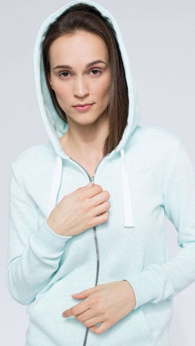 Bluza damska BLD300 - mięta melanż