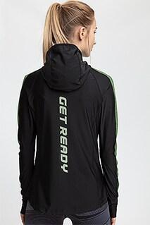 Bluza treningowa damska BLDF200 - glęboka czerń