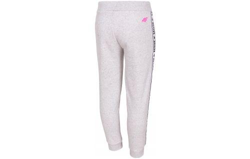 Spodnie dresowe dla małych dzieci (dziewczynek) JSPDD210 - chłodny jasny szary melanż