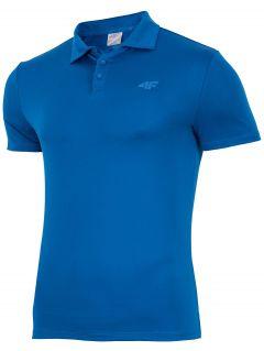 Koszulka treningowa polo męska TSMF004 - niebieski ciemny