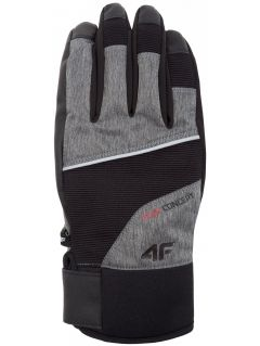 Rękawice narciarskie męskie REM254Z - ciemny szary melanż