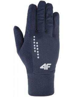 Rękawiczki sportowe uniseks REU001z - denim melanż