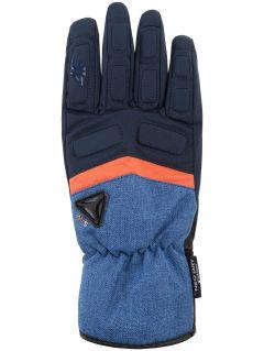 Rękawice narciarskie męskie REM004z - granatowy ciemny