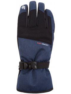 Rękawice narciarskie męskie REM251Z - granatowy melanż