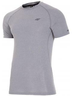 Koszulka treningowa męska TSMF205z - ciemny szary melanż