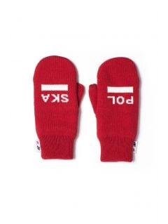 Rękawiczki uniseks Polska Pyeongchang 2018 REU900 - czerwony wiśniowy