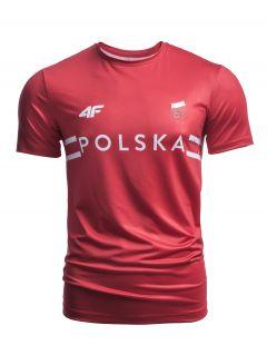 Koszulka funkcyjna męska Polska Pyeongchang 2018 TSMF900 - czerwony wiśniowy