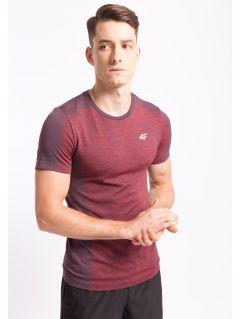 Koszulka treningowa męska TSMF253Z- czerwony melanż