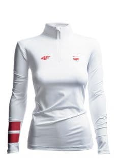 Bluza funkcyjna damska Polska Pyeongchang 2018 TSDLF900 - biały