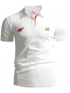 Koszulka polo męska Polska Pyeongchang 2018 TSM211 - BIAŁY