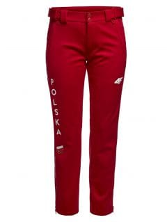 Spodnie funkcyjne damskie Polska Pyeongchang 2018 SPDT900R - czerwony wiśniowy