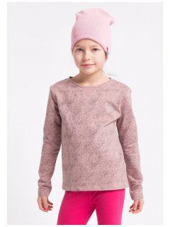 Longsleeve dla małych dziewczynek JTSDL102z - pudrowy róż