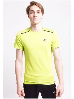 Koszulka treningowa męska TSMF252Az - limonkowy neon