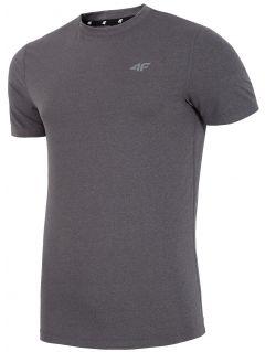 Koszulka treningowa męska TSMF002 - ciemny szary melanż