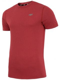 Koszulka treningowa męska TSMF002 - czerwony melanż