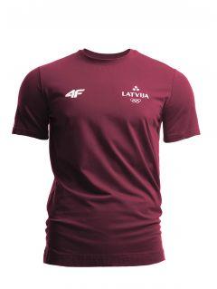Koszulka męska Łotwa Pyeongchang 2018 TSM800 - bordowy