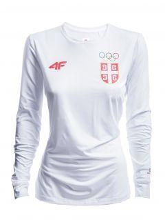 Longsleeve funkcyjny damski Serbia Pyeongchang 2018 TSDLF701 - biały