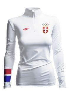 Longsleeve funkcyjny damski Serbia Pyeongchang 2018 TSDLF700 - biały