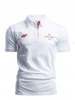 Koszulka polo męska Łotwa Pyeongchang 2018 TSM801 - biały