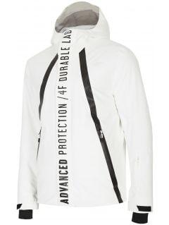 Kurtka narciarska męska KUMN160 - biały