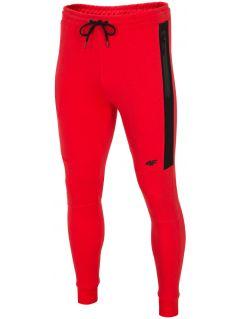 Spodnie dresowe męskie SPMD224 - czerwony