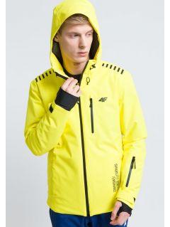 Kurtka narciarska męska KUMN161 - żółty cytrynowy