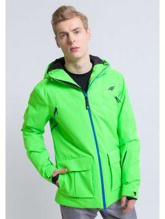 Kurtka narciarska męska KUMN162 - zielony neon