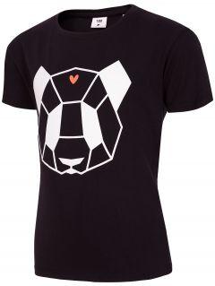 T-shirt dla małych dziewczynek JTSD102C - czarny