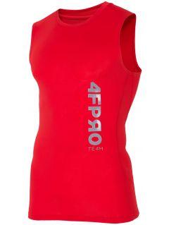 Koszulka baselayer 4FPro TSMF402 - czerwony allover