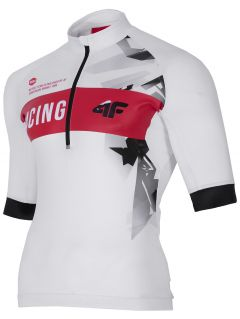 Koszulka rowerowa męska RKM150 - biały