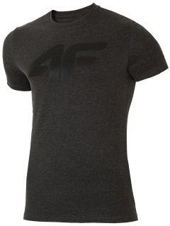 T-shirt męski TSM025 - ciemny szary melanż