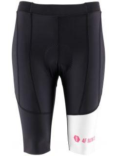 Spodenki rowerowe damskie RSD150 - głęboka czerń