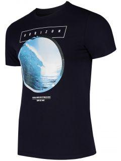 T-shirt męski TSM293 - ciemny granatowy