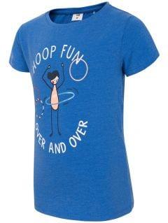 T-shirt dla małych dziewczynek JTSD109A - kobalt