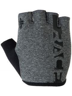 Rękawiczki rowerowe RRU005 - ciemny szary melanż